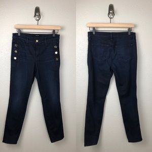 J Brand Zion Skinny Jeans Transformation Buttons